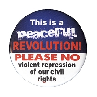 B153 - Peaceful Revolution Civil Rights Button