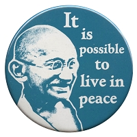 B193 - It Is Possible To Live In Peace Gandhi Quote Button