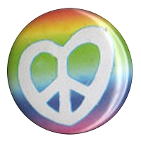 B194 - Rainbow Peace Heart Button