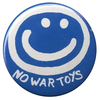 B198 - No War Toys Button