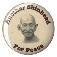 B257 - Another Skinhead for Peace Button