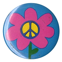 B270 - Peace Flower Button