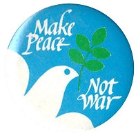 B382 - Make Peace Not War Button