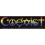 CS110 - Rainbow Pride Coexist Color Bumper Sticker