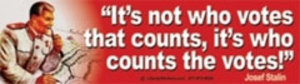 CS045 - Who Counts the Votes Large Full Color Bumper Sticker