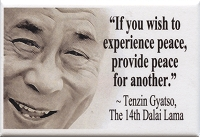 FM046 -  If you wish to experience peace, provide peace for another - Dalai Lama Quote Fridge Magnet