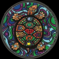 MA25 - Stained Glass Turtle Mini Art Decal