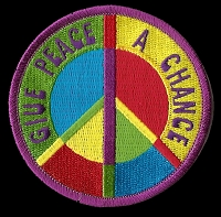 P134 - Give Peace a Chance Peace Sign Patch