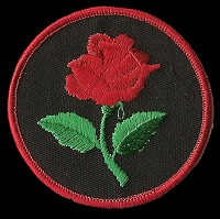 P145 - Red Rose Round Patch