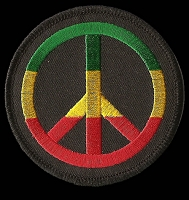 P181 - Rasta Peace Round Patch
