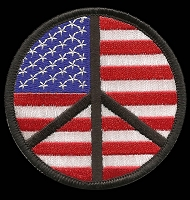 P183 - American Flag Peace Sign Patch