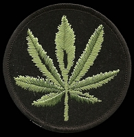 P195 - Pot Leaf Round Patch