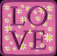 P209 - LOVE Square Patch