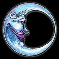P025 - Large Crescent Moon Embroidered Patch