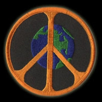 P070 - Global Peace Embroidered Patch