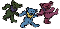 P076 - Dancing Bear Embroidered Patch Assorted Colors