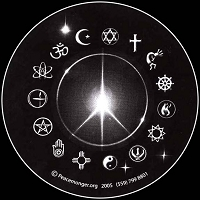 S026 - Peace Light Large Round Bumper Sticker