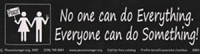 S068 - Everyone Can Do Something Bumper Sticker