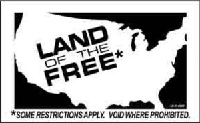 S283 - Land of the Free Bumper Sticker