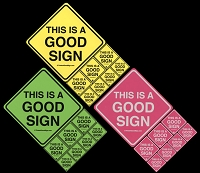 S308 - This is a Good Sign Sticker Set (8 Pack)
