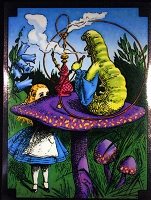 A372 Alice In Wonderland Hookah Smoking Caterpillar Art Decal Window Sticker