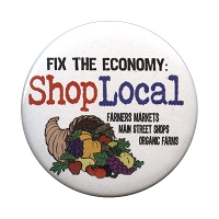 B378 - Fix The Economy: Shop Local Pin Back Button