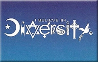FM034 - I Believe in Diversity Fridge Magnet