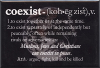 FM024 - Coexist Word Definition Fridge Magnet