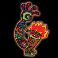 P044 - Fire Drummer Embroidered Patch