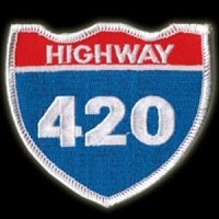 P068 - Hwy 420 Embroidered Patch