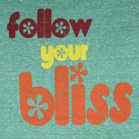 T073 - Follow Your Bliss Womens Fitted T-Shirt