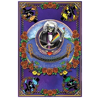PS026 - Deadheads Across the Golden Gate Bridge Wall Poster