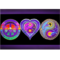 PS001 - Peace, Love and Happiness Poster (BLACKLIGHT)