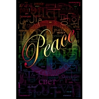 PS030 - Peace Word Cloud Poster