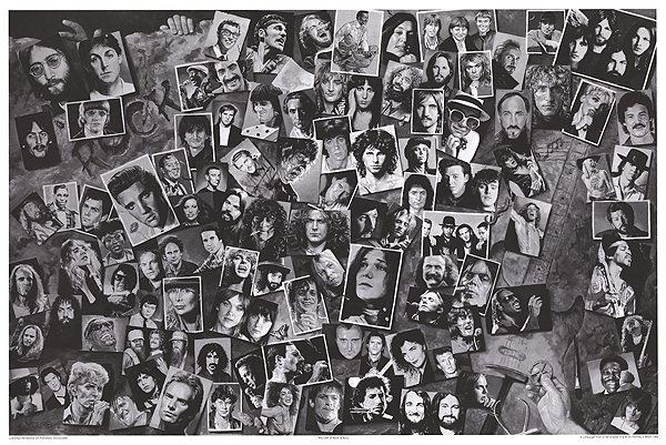 history of rock and roll poster