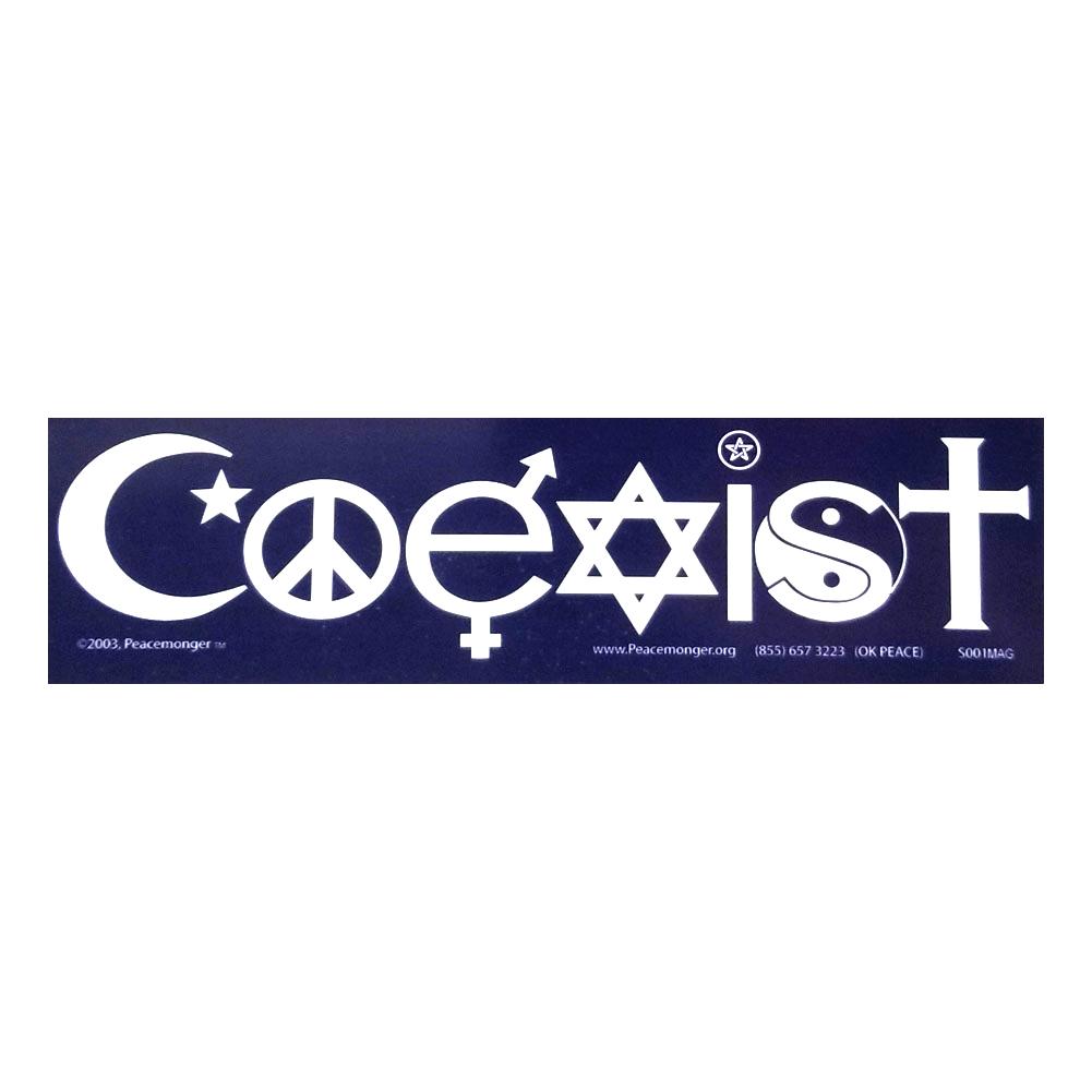 Coexist Twilight Interfaith Small Bumper Sticker Decal