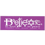 S002 - Believe in Love in Peace Symbols Large Bumper Sticker