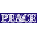 S003 - Peace Languages Large Bumper Sticker