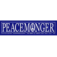 S008 - Peacemonger Original Logo Bumper Sticker