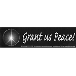 S014 - Grant Us Peace Large Bumper Sticker