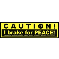 S023 - I Brake Peace Large Bumper Sticker