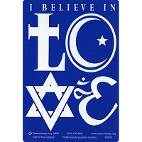 S029 - I Believe in Love Bumper Sticker