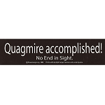 S034 - Quagmire Accomplished Large Bumper Sticker