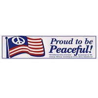 S036 - Proud Peaceful Bumper Sticker