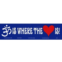 S041 - Om is Where the Heart is! Bumper Sticker