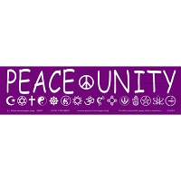 S047 - Peace & Unity Bumper Sticker