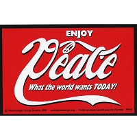 S054 - Enjoy Peace! Bumper Sticker
