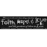 S066 - Faith Hope Love Large Bumper Sticker