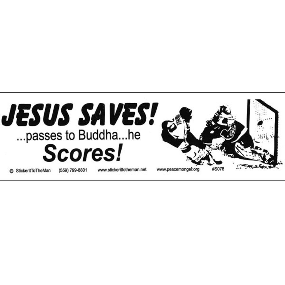 Political commentary i have read the warning and understand that some items may be offensive continue s078 jesus saves large bumper sticker