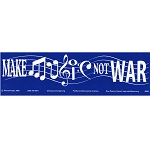 S084 - Make Music Not War Bumper Sticker